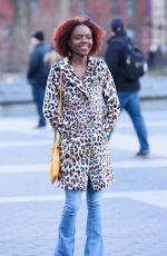 ASHLEIGH MURRAY on the Set of Katy Keene in New York 03/22/2019