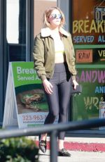ASHLEY BENSON Out for Coffee in Los Angeles 03/16/2019