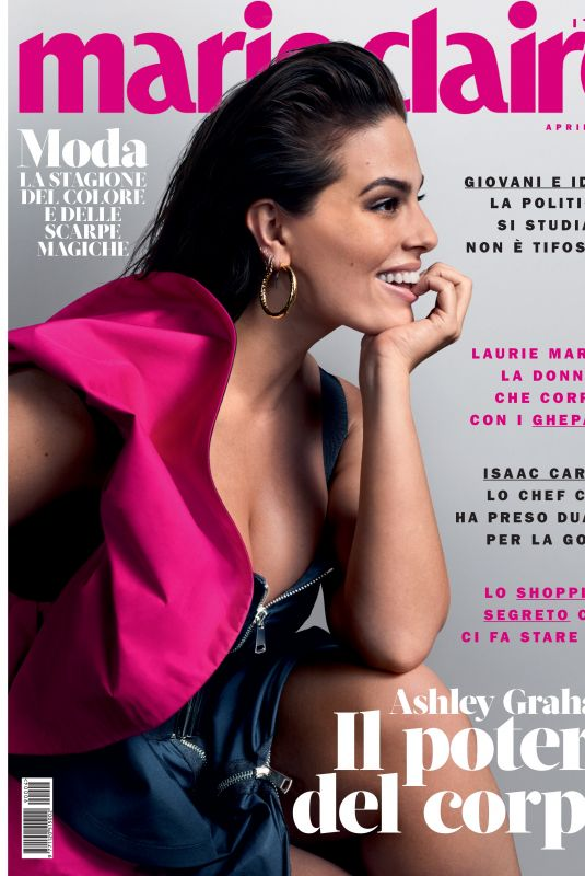 ASHLEYGRAHAM in Marie Claire Magazine, Italy April 2019