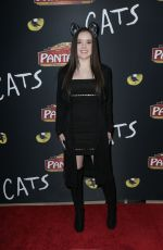AUBREY MILLER at Cats Opening Night Performance in Hollywood 02/27/2019