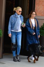 BELLA and YOLANDA HADID Out in New York 03/30/2019