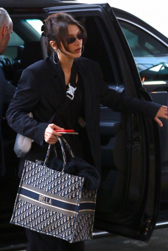 BELLA HADID Arrives at JFK Airport in New York 03/20/2019