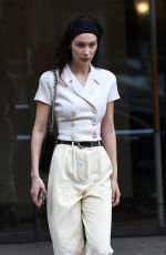 BELLA HADID Arrives at Louis Vuittion Office in Paris 03/04/2019