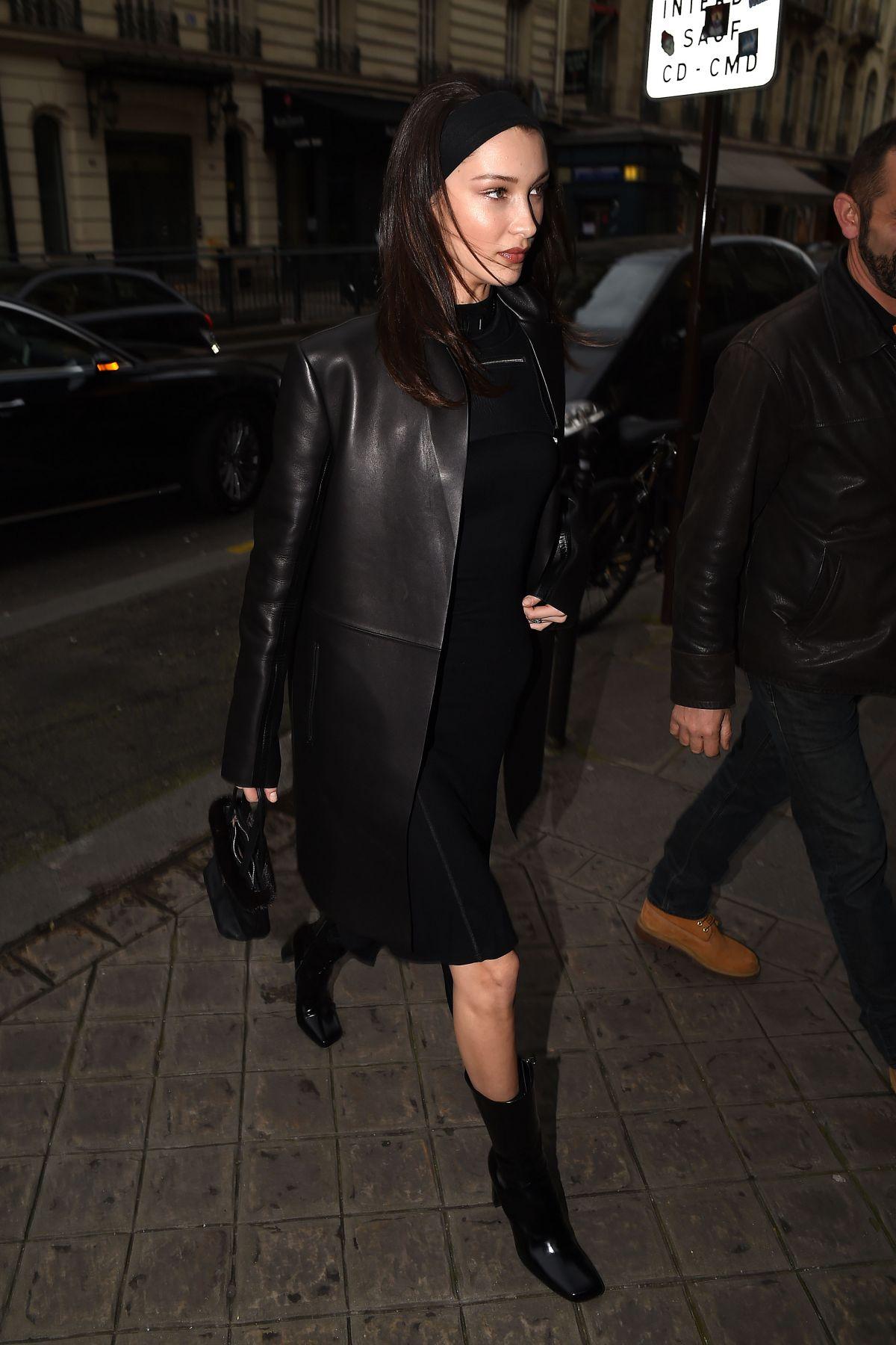 Bella Hadid Arrives At Vogue Party At Paris Fashion Week 03 03 2019
