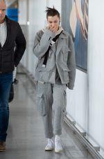 BELLA HADID at JFK Airport in New York 03/06/2019