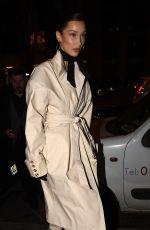 BELLA HADID Heading to Louis Vuitton Party in Paris 03/01/2019
