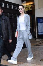 BELLA HADID Leaves Ackermann Fashion Show in Paris 03/02/2019