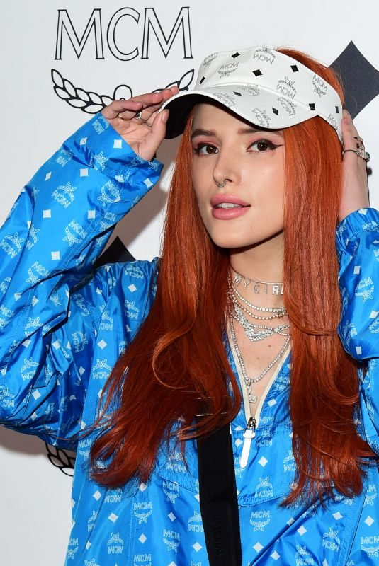BELLA THORNE at MCM Global Flagship Store Opening on Rodeo Drive in Beverly Hills 03/14/2019