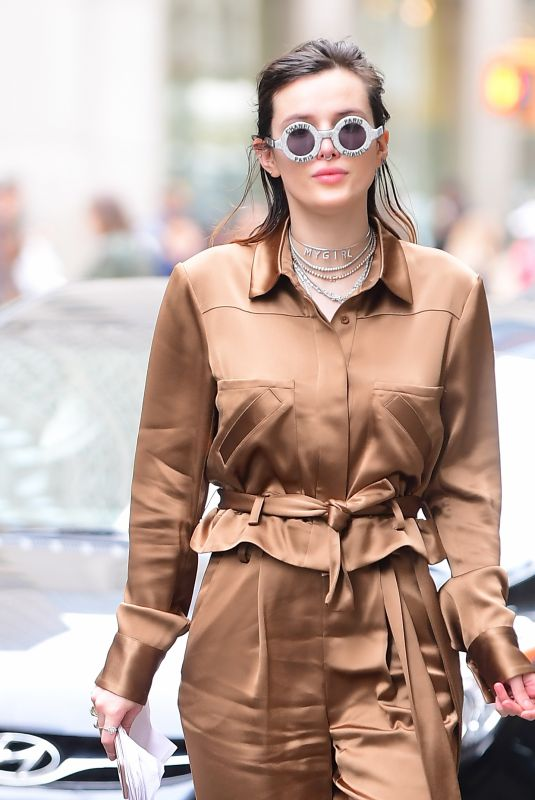 BELLA THORNE Out and About in New York 03/24/2019