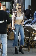 BELLA THORNE Out for Lunch in Los Angeles 03/30/2019