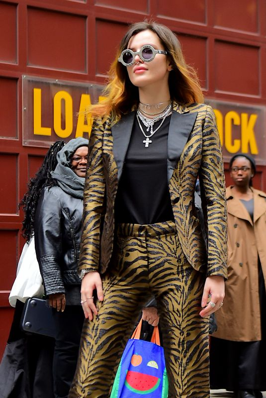 BELLA THORNE Out in New York 03/25/2019