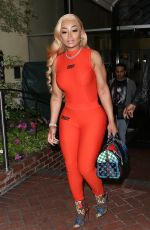 BLAC CHYNA Arrives at Sunset Marquis Hotel in West Hollywood 03/07/2019