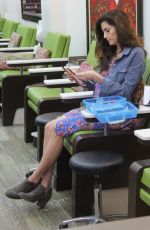 BLANCA BLANCO at a Nail Salon in Los Angeles 03/08/2019