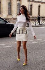 BLANCA BLANCO Out at Paris Fashion Week 03/03/2019