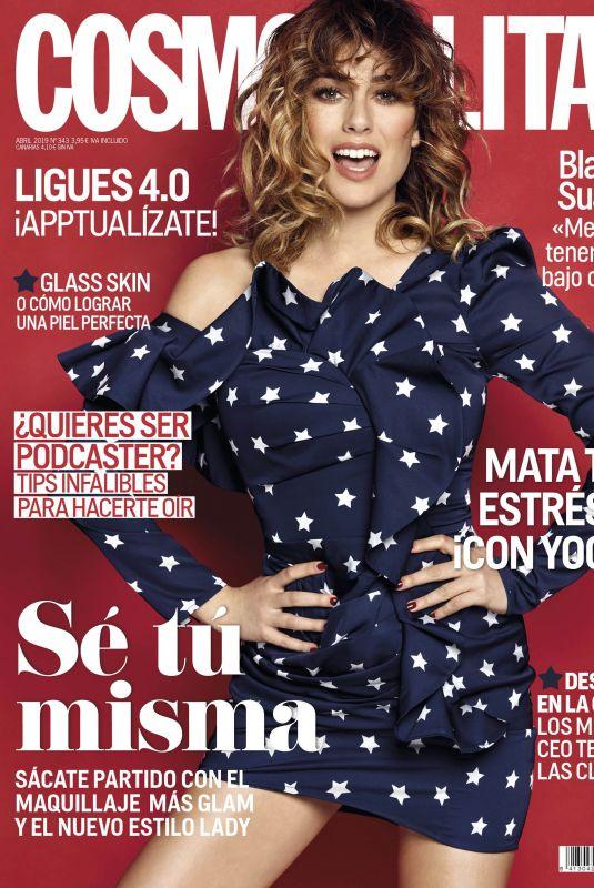 BLANCA SUAREZ on the Cover of Cosmopolitan Magazine, Spain April 2019