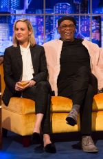 BRIE LARSON and Samuel L. Jackson at Jonathan Ross Show in London 03/02/2019