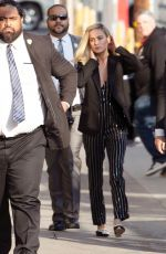 BRIE LARSON Arrives at Jimmy Kimmel Live in Hollywood 03/04/2019