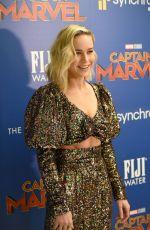 BRIE LARSON at Captain Marvel Screening in New York 03/06/2019