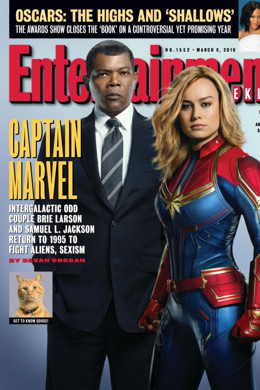 BRIE LARSON in Entertainment Weekly, March 2019
