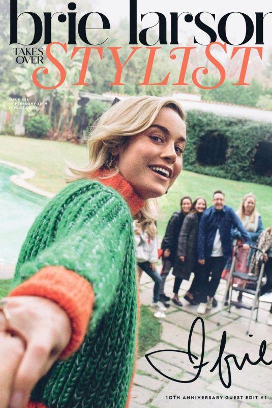 BRIE LARSON in Stylist Magazine, February 2019