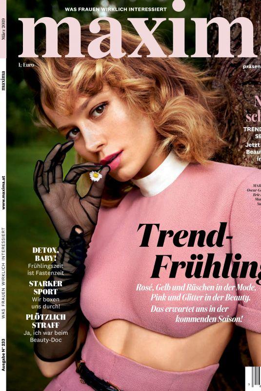 BRIE LARSON ub Maxima Magazine, March 2019