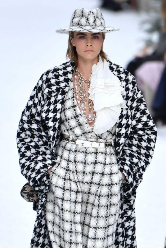 CARA DELEVINGNE at Chanel Runway Show at Paris Fashion Week 03/05/2019