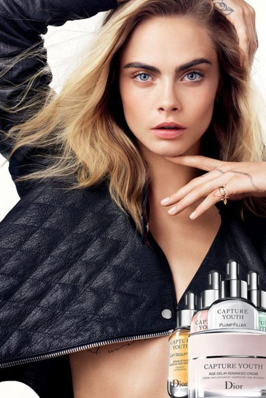 CARA DELEVINGNE for Dior Capture Youth, January 2018