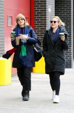 CAREY MULLIGAN and DIANNA AGRON Out for Coffee in New York 03/07/2019