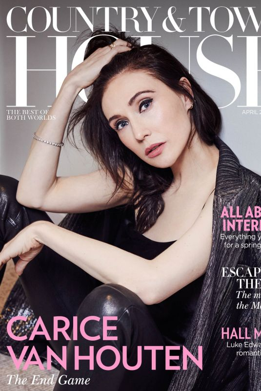 CARICE VAN HOUTEN in Country & Town House Magazine, April 2019