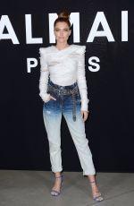 CAROLINE RECEVEUR at Balmain Fashion Show at PFW in Paris 03/01/2019