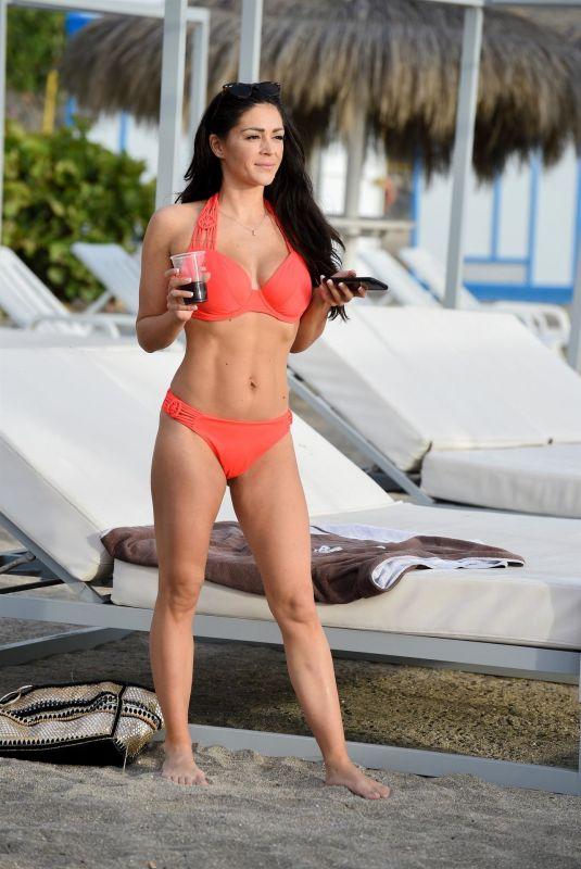 CASEY BATCHELOR in Bikini at a Beach in Tenerife 03/24/2019