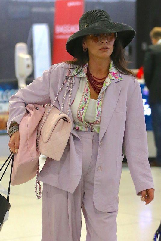 CATHERINE ZETA JONES at JFK Airport in New York 03/21/2019