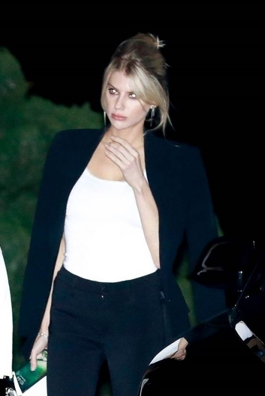 CHARLOTTE MCKINNEY Out for Dinner in Malibu 03/08/2019