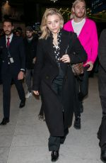 CHLOE MORETZ at Charles De Gaulle Airport in Paris 03/03/2019