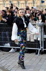 CHLOE MORETZ at Louis Vuitton Show at Paris Fashion Week 03/05/2019