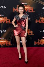 CIARA RILEY WILSON at Captain Marvel Premiere in Hollywood 03/04/2019