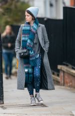 CLAIRE FOY Leaves Bodyism in London 03/01/2019