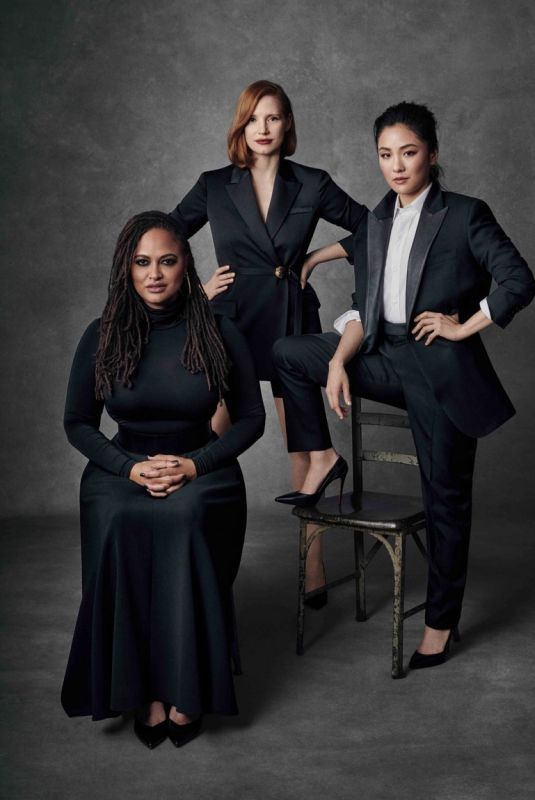 CONSTANCE WU, AVA DUVERNAY and JESSICA CHASTAIN in Marie Claire Magazine, April 2019