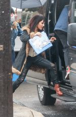 CONSTANCE WU on the Set of Hustlers in New York 03/21/2019