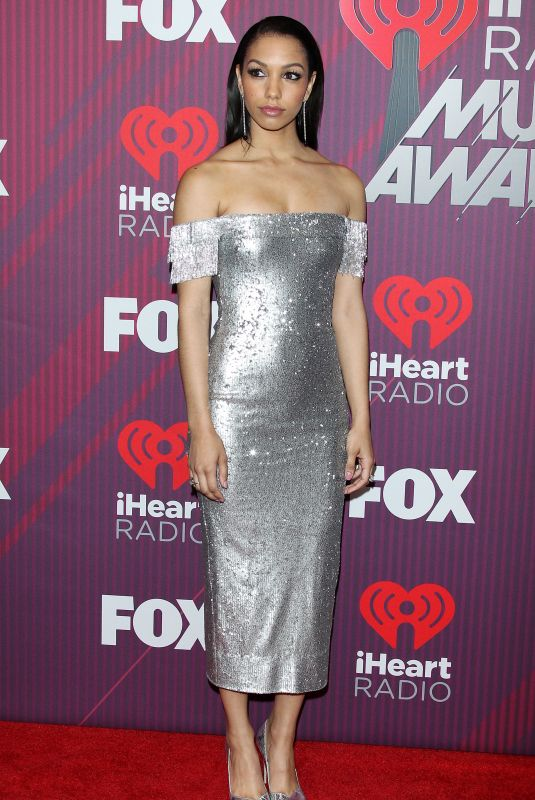 CORINNE FOXX at Iheartradio Music Awards 2019 in Los Angeles 03/14/2019