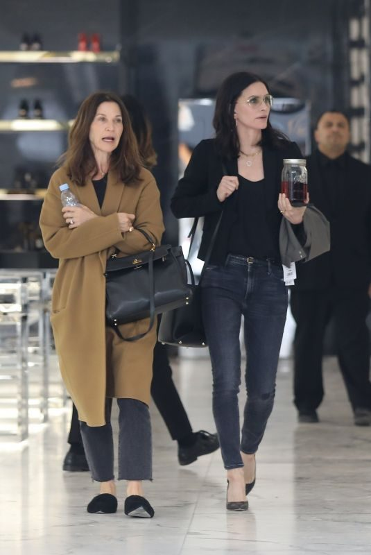 COURTENEY COX and AMANDA ANKA Shopping at Saint Laurent in Beverly Hills 03/21/2019