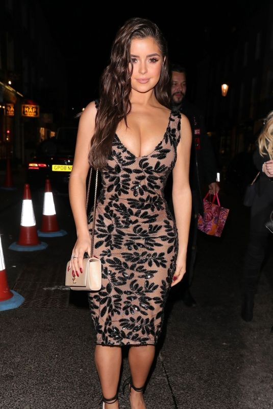 DEMI ROSE MAWBY Out Celebrating Her 24th Birthday in London 03/27/2019