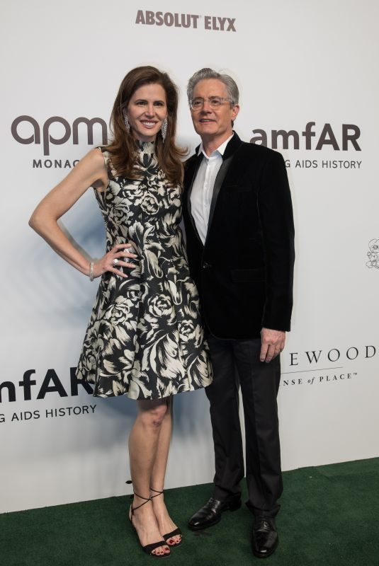 DESIREE GRUBER and Kyle Maclachlan at Amfar Gala in Hong Kong 03/25/2019