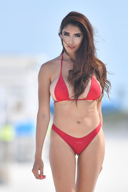 DIANA VASQUEZ in Bikinis on the Set of a Photoshoot at a Beach in Miami 03/17/2019