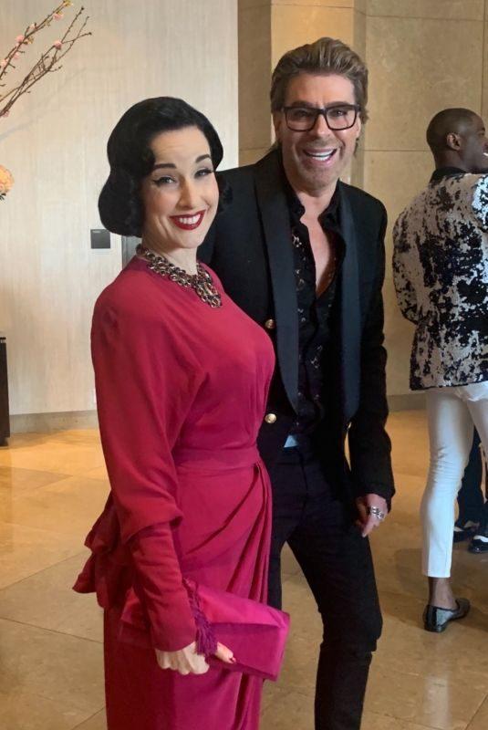 DITA VON TEESE Arrives at 2019 Glaad Media Awards in Los Angeles 03/28/2019