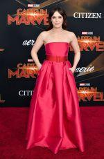 ELIZABETH HENSTRIDGE at Captain Marvel Premiere in Hollywood 03/04/2019