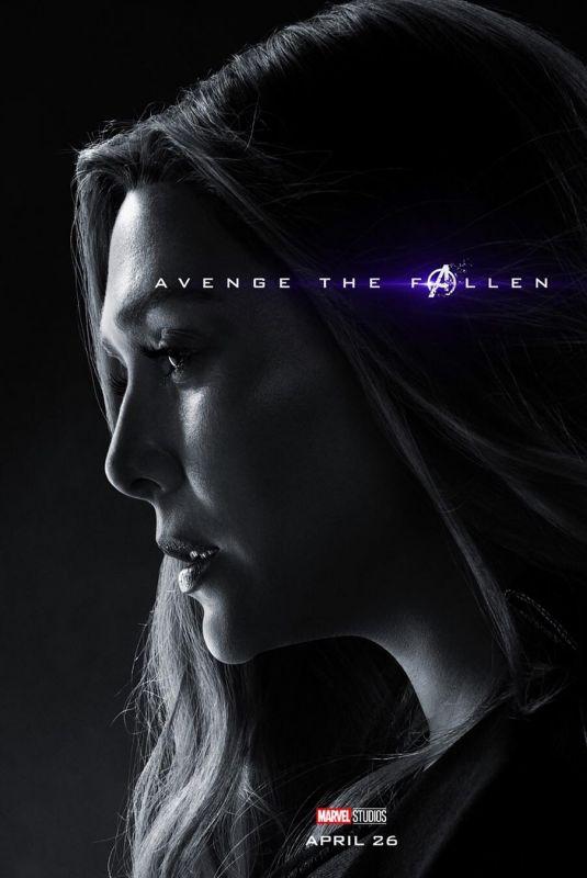 ELIZABETH OLSEN - Avengers: Endgame Poster and Trailer