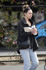 ELIZABETH OLSEN Out for Lunch in Los Angeles 03/14/2019