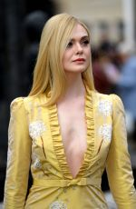 ELLE FANNING at Miu Miu Fashion Show at PFW in Paris 03/05/2019