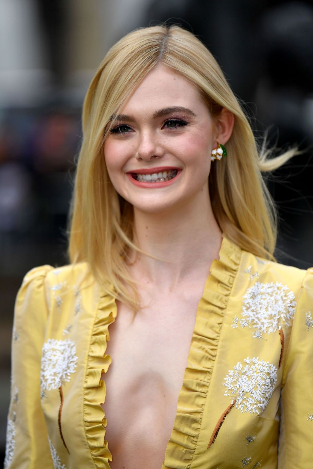 Elle Fanning Covers Fashion Magazine Says She Loves Being: ELLE FANNING At Miu Miu Fashion Show At PFW In Paris 03/05